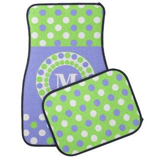 Esteras de encargo azules, verdes, y blancas del c alfombrilla de coche