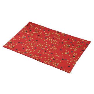 Esteras de lugar rojas del confeti de la graduació mantel individual