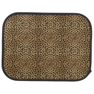 Esteras posteriores del piso del estampado leopard alfombrilla de auto