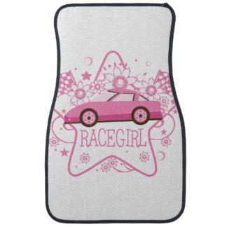Esteras rosadas del piso del diseño de Racecar Alfombrilla De Coche