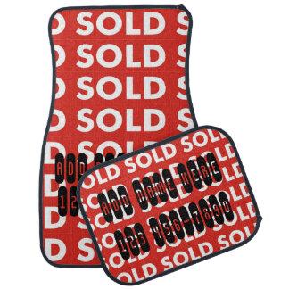 Esteras vendidas rojas del coche del agente inmobi alfombrilla de coche