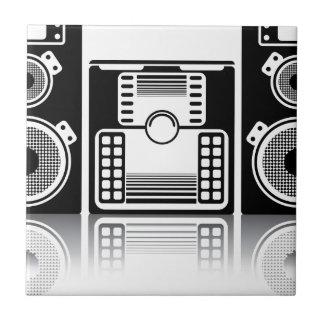 Estéreo de BoomBox Azulejo Cuadrado Pequeño