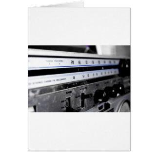Estéreo de la escuela vieja tarjeta de felicitación