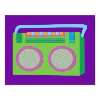 Estéreo de Rockin Invitación 10,8 X 13,9 Cm
