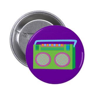 Estéreo de Rockin Pin Redondo De 2 Pulgadas