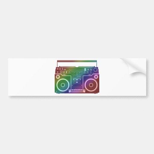 Estéreo del arco iris pegatina para auto