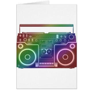Estéreo del arco iris tarjeta de felicitación