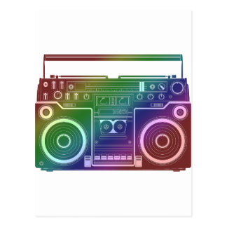 Estéreo del arco iris tarjetas postales