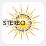 ESTÉREO (observatorio terrestre solar de las Pegatinas Cuadradas Personalizadas
