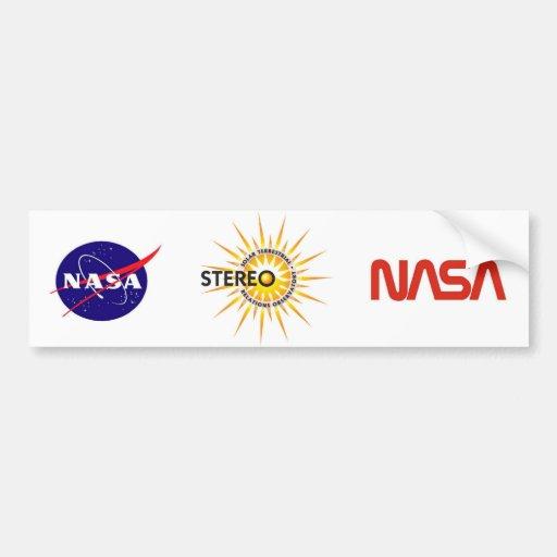 ESTÉREO (observatorio terrestre solar de las relac Pegatina De Parachoque