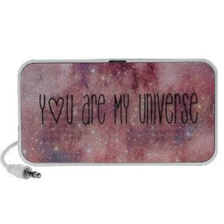"estéreo ""you are my universe "" sistema altavoz"