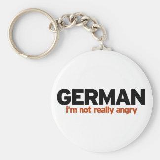 Estereotipo alemán llavero redondo tipo pin