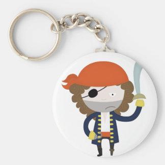 Estereotipo del pirata llavero redondo tipo pin