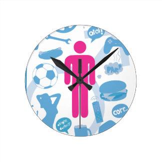 Estereotipo gay reloj redondo mediano