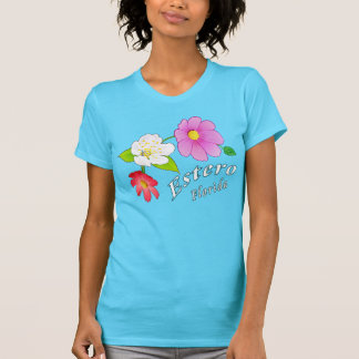 Estero Florida Tropical Floral T Shirt for Women
