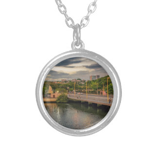 Estero Salado River Guayaquil Ecuador Silver Plated Necklace