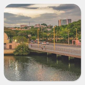 Estero Salado River Guayaquil Ecuador Square Sticker
