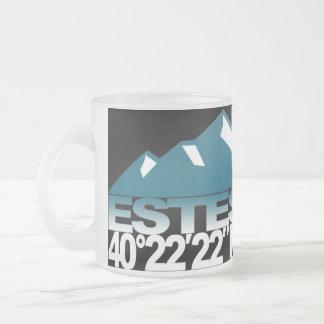 Estes Mountain GPS Ice Mug