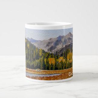 Estes Mountain Lake Oil Landscape Painting Giant Coffee Mug