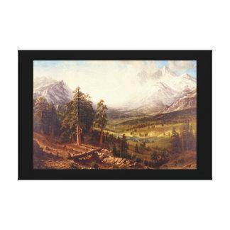 Estes Park', Albert Bierstadt_Landscapes Canvas Print