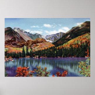 Estes Park Colorado Bear Lake and Long's Peak Poster