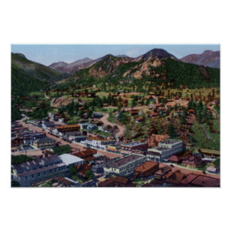 Estes Park Colorado Birdseye View Poster