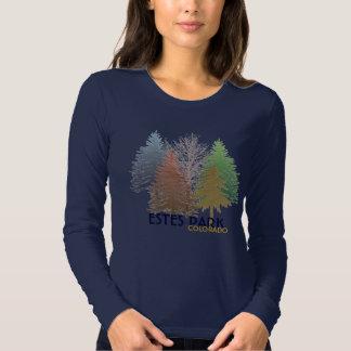 Estes Park Colorado colorful trees shirt