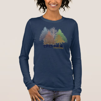 Estes Park Colorado colorful trees shirt