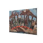 Estes Park, Colorado - Large Letter Scenes Canvas Prints