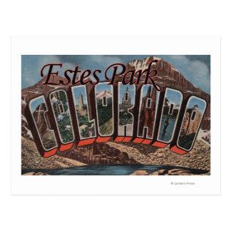 Estes Park, Colorado - Large Letter Scenes Postcard