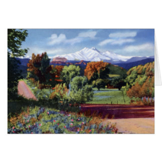 Estes Park Colorado Longs Peak and Mt. Meeker Card