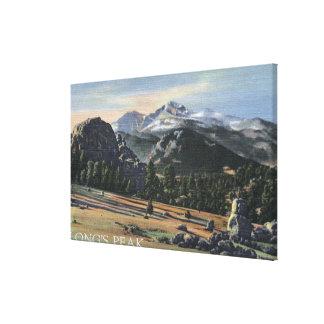 Estes Park, Colorado - Longs Peak View Canvas Print