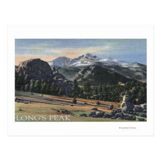 Estes Park, Colorado - Longs Peak View Postcard