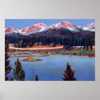 Estes Park Colorado Mummy Range from Trail Ridge R Poster