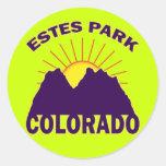 ESTES PARK COLORADO ROUND STICKERS