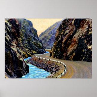 Estes Park Colorado Thompson Canyon Road Poster