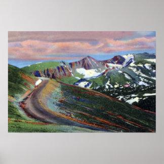 Estes Park Colorado Trail Ridge Rd Highest Point Poster