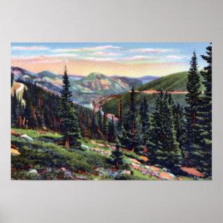 Estes Park Colorado Trail Ridge Road Poster