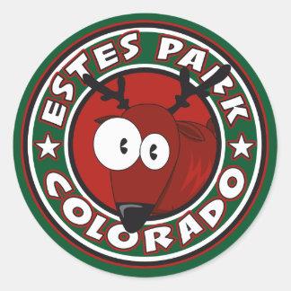 Estes Park Elk Circle Classic Round Sticker