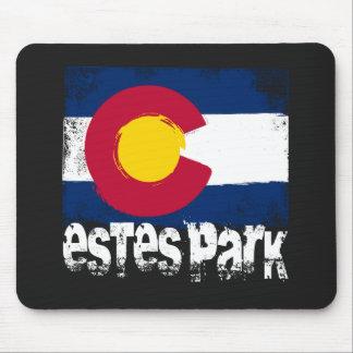 Estes Park Grunge Flag Mouse Pad