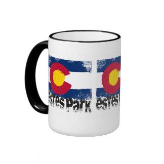 Estes Park Grunge Flag Ringer Mug