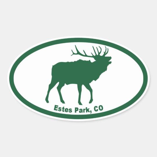 Estes Park Oval Sticker