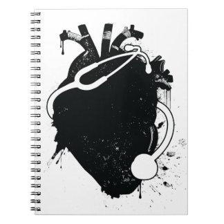 estetoscopio anatómico del corazón libretas espirales