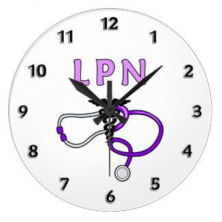 Estetoscopio de LPN Reloj De Pared
