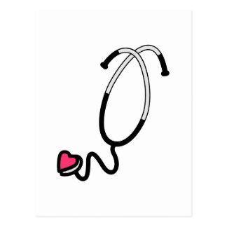 Estetoscopio del corazón postales
