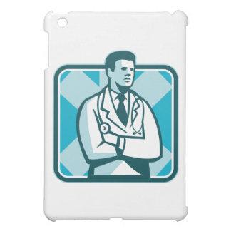 Estetoscopio del médico médico que coloca Retr
