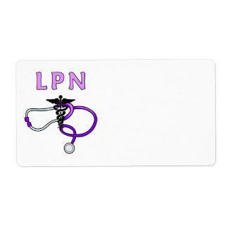 Estetoscopio del oficio de enfermera LPN Etiqueta De Envío