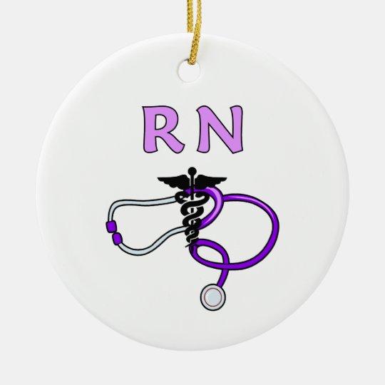 Estetoscopio del RN Adorno Navideño Redondo De Cerámica
