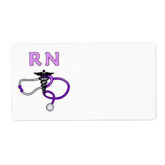 Estetoscopio del RN de la enfermera Etiqueta De Envío