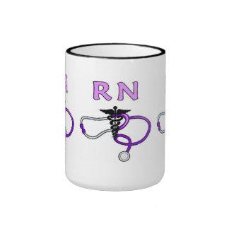 Estetoscopio del RN de las enfermeras Tazas De Café